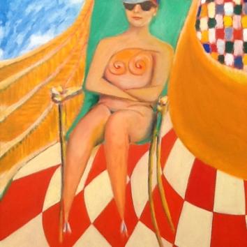 28-Donna al sole 100x80cm
