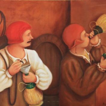41 - I vinaio /De wijnboer/Le négociant en vin