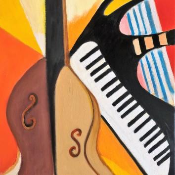 69-Citarra&pianoforte 50x60 cm