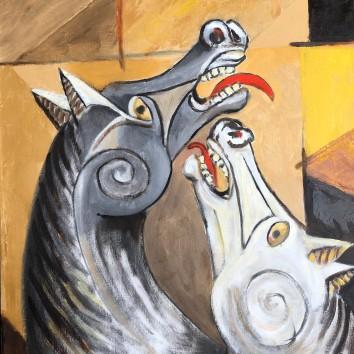 74-Cavalli impazziti 50x60cm