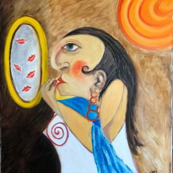 78-Donna allo specchio 50x60cm
