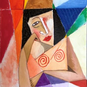 84-Donna in riflessione 50x60cm