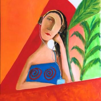 85-Donna in solitudine 60x70cm
