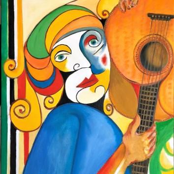 25-Donna con chitarra 60x90cm