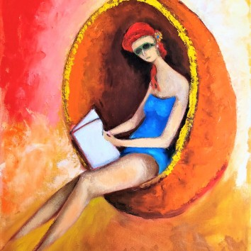 101-Lettrice in relax 60x80cm